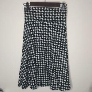 LuLaRoe Small Houndstooth Azure Skirt